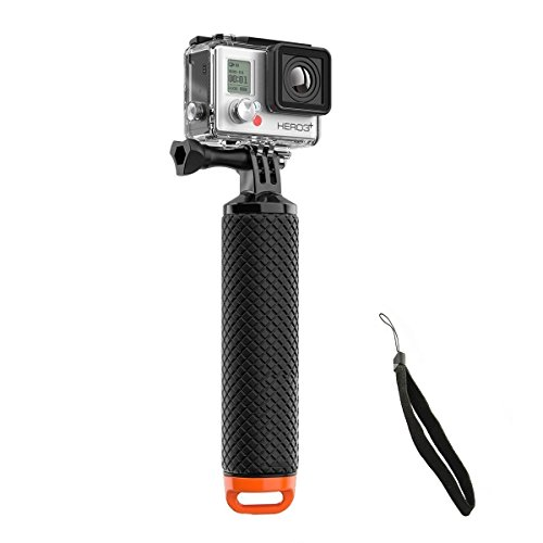 Welltop impermeabile GoPro Floating mano Tripod Mount & galleggiante Presa della maniglia con il pollice Vite e regolabile cinturino da polso per GoPro Hero 2/3/3 + / 4 Sport Action Camera Mount Accessori