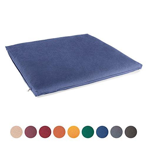 Lotuscrafts Meditationsmatte Zabuton Standard - Meditationskissen Unterlage für entspannte Meditation - Waschbarer Bezug aus 100% Baumwolle - GOTS Zertifiziert
