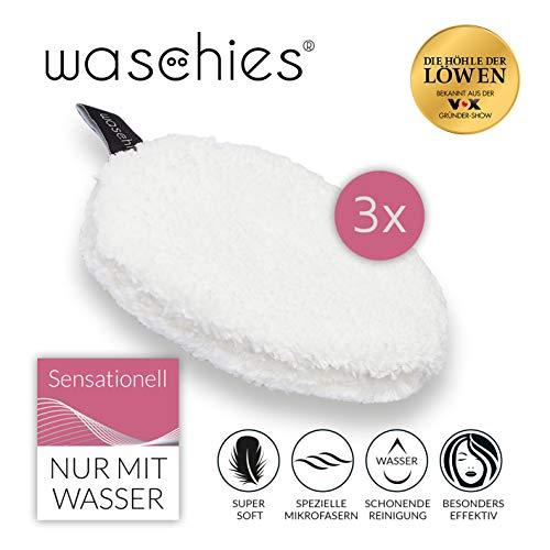 waschies Abschminkpads waschbar | Wiederverwendbare Abschminktücher, Kosmetikpads zur Make-Up Entfernung | Umweltfreundlich, Nachhaltig [Mikrofaser, 3er Set]