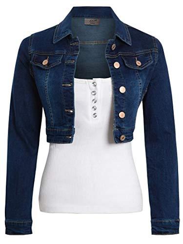 SS7 Damen Kurz geschnittene Jeansjacke