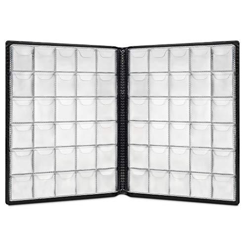 IWILCS Album de pièces en Cuir, 250 Album de Pocket pour Collectionner de...