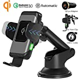 Wefunix Qi Chargeur Sans Fil Rapide Voiture Automatic Clamping Fast Wireless Car...