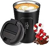 eeQiu Tasse à café 13oz 100% étanche - Tasse de Voyage en Acier Inoxydable - Tasse de Voiture à...