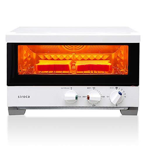 siroca プレミアムオーブントースター すばやき(2枚) ST-2A251 ホワイト [1分で極上トースト/ノンフライ調...
