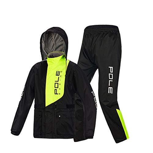 RCJCQS Wasserdichter Anzug Für Herren Erwachsenen Wasserdichten Anzug Mit Reflexstreifen Regenjacke Outdoor-Klettern Atmungsaktiv Motorrad Regenanzug,XXL