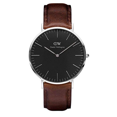 Daniel Wellington Unisex Analog Quarz Uhr mit Leder Armband DW00100131