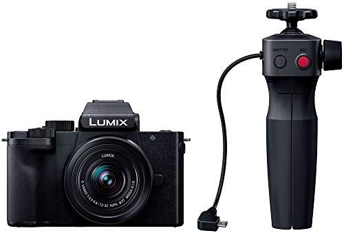 パナソニック ミラーレス一眼カメラ ルミックス G100V 標準ズームレンズキット トライポッドグリップ付属 ブラック DC-G100V-K
