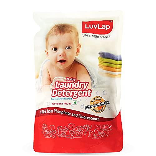 Luvlap Baby Laundry Liquid Detergent, Food Grade, Refill Pack 1000ml