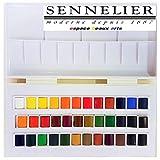 Sennelier Boîte de Peinture Aquarelle en Plastique, 36 Couleur,Made in...