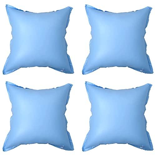 vidaXL 4x Oreillers Gonflables d'Hiver pour Housse de Piscine Hors Sol Coussins Couverture Flotteurs d'Hivernage Coussins Gonflables Bleu PVC