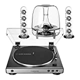 AudioTechnica AT-LP60XGM Fully Automatic Stereo 2-Speed Turntable System (Silver) with Harman Consumer SoundSticks III 2.1 Plug and Play Multimedia Speaker System