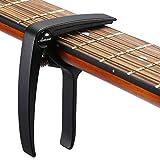 Asmuse Capodastre Guitare avec 3 Mediators Unique Utilisation à Une Main...