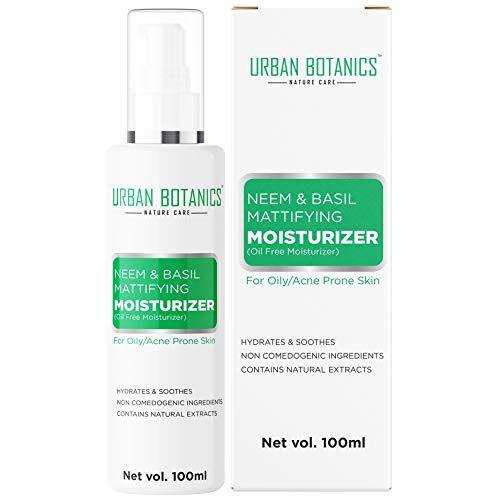 UrbanBotanics® Oil Free Moisturizer For Face - Mattifying Moisturiser Face Cream for Oily/Acne...