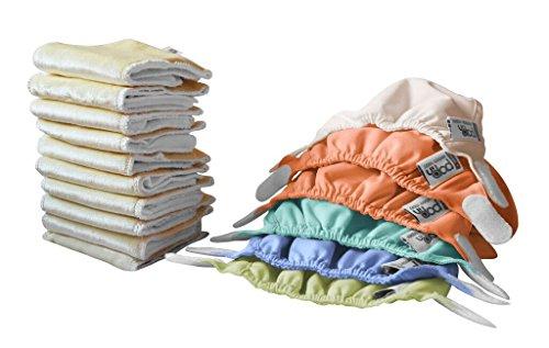 Close Pop-in Stoffwindeln - Newborn Box - farblich sortiert in Pastelltönen - 10 Saugkerne + 6 Außenhüllen