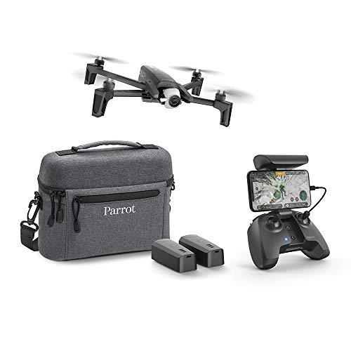 Parrot Anafi Extended Drone con 2 Batterie Aggiuntive, Borsa da Trasporto ed Eliche Aggiuntive, Videocamera HDR 4K con Gimbal con Inclinazione a 180, Nero
