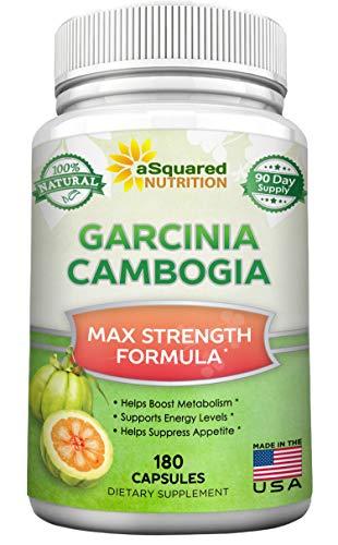 Pure Garcinia Cambogia Extract - 180 Capsule Pills, Natural Garcinia Supplement, Ultra High Strength HCA, Max Premium Detox Tablet for Men & Women