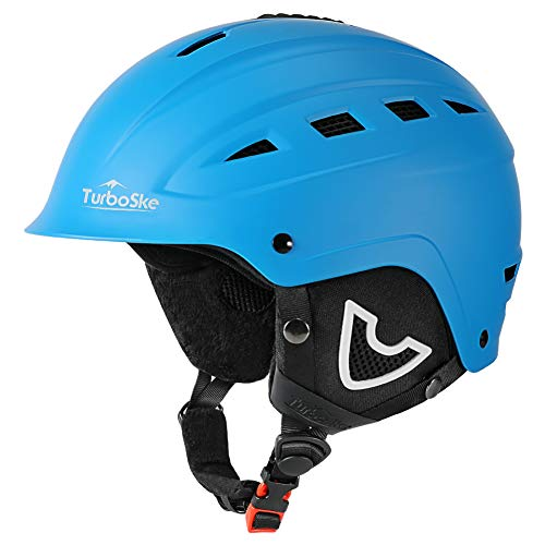 TurboSke Ski Helmet, Snow Sports Helmet, Snowboard Helmet Men Women Youth (Black, L (22'-22.8')).