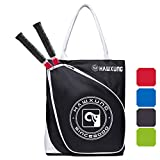 YAAGLE Tennis Bag-Tennis Racket Bag/Tennis Tote Bag Holds 2 Rackets in Padded Compartment | Tennis Bags for Men or Women,Youth and Adults (Black)