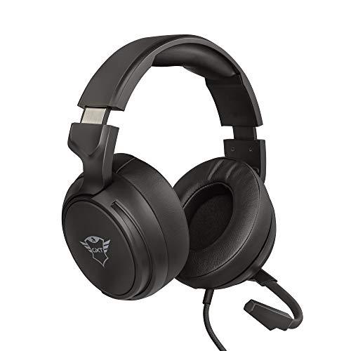 Trust Gaming Headset GXT 433 mit Mikrofon für PS4, PS5, PC, Nintendo Switch, Xbox Series X, Xbox One - Pylo Kabelgebundene Gaming-Kopfhörer mit Geflechtkabel, 50 mm-Aktivlautsprecher - Schwarz