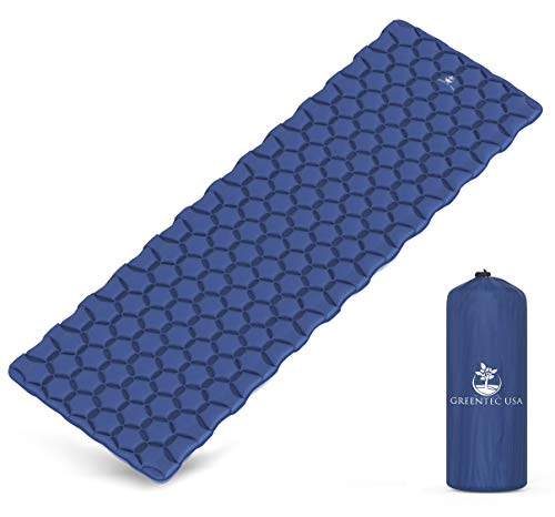 Premium Self-Inflating Sleeping Pad - Inflatable Foam Sleeping Mat for Camping, Hiking, and Traveling - Lightweight, Compact, and Durable - Fits Perfectly With any Style Sleeping Bag (Lightweight Pad)