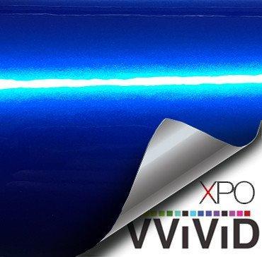 VViViD XPO Gloss Liquid Metal Dark Blue Vinyl Car Wrap Adhesive Film (6ft x 5ft (Hood, Roof or Trunk Wrap Kit))