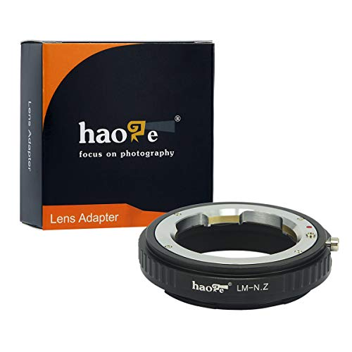 Haoge 手動レンズマウントアダプター Leica M LM、Zeiss ZM、Voigtlander VMレンズからNikon Zマウントカメラまで Z6 Z7など