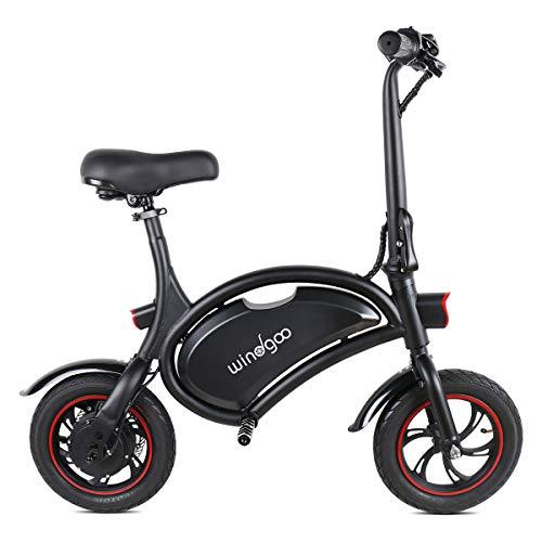 Windgoo Vélo Électrique Pliant, 12' City E-Bike Adulte Pliant, Puissant Moteur 350W, Vitesse jusqu'à 25 km/h, 15km la Longue Portée, 36V 6.0Ah Batterie Lithium Rechargeable, Non Pédale