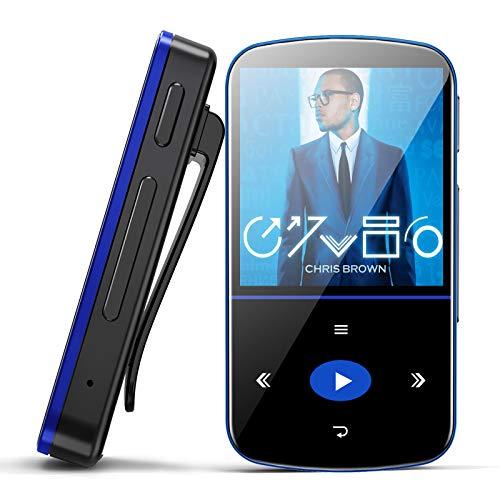 32GB Lettore MP3 Bluetooth con Clip,Mibao MP3 Bluetooth con Touch Screen con Contapassi/Radio...