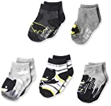 Justice League Baby Boy's 5 Pack Shorty Socks, Assorted Batman, 12-24 Months