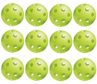 Jugs Sports Pickleballs, Vision Enhanced Green, 1 Dozen