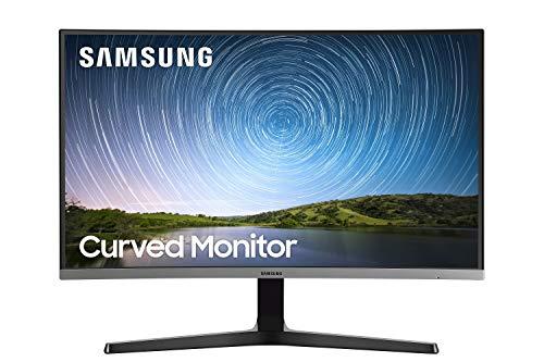 Samsung C27R502 Monitor Curvo Borderless, 27 Pollici, FHD, 1920 x 1080, 4 ms, 16:9, 60 Hz, 1080p, 1800R, LED, 1 HDMI, Base a Doppio Snodo, Vesa, Blu/Grigio