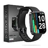 Smart Watch, EEFINITE 1.69' Fitnessuhr Herren Damen, Alexa Eingebaut, Smart Uhr mit Herzfrequenz SpO2 Monitor, 5ATM Wasserdicht Schlaf Schwimmen Tracker Uhr für Android IOS Phones, Schwarz