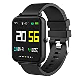 Foronechi Smart Watch for Android/Samsung/iPhone, Activity Fitness Tracker with IP68 Waterproof for Men & Women, Smartwatch with 1.54' Full-Touch Color Screen, Heart Rate & Sleep Monitor, Black