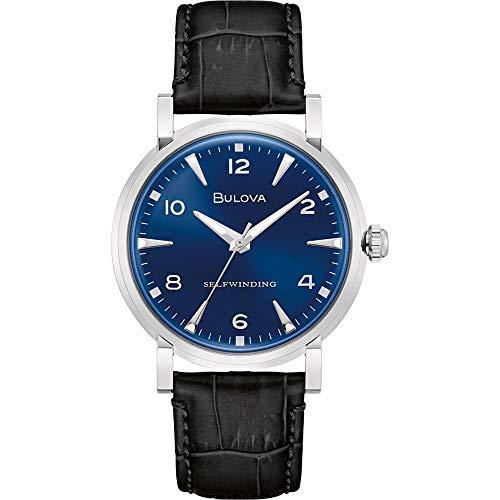 Bulova Reloj Analógico para Hombre de Automáticamente con Correa en Cuero 96A242