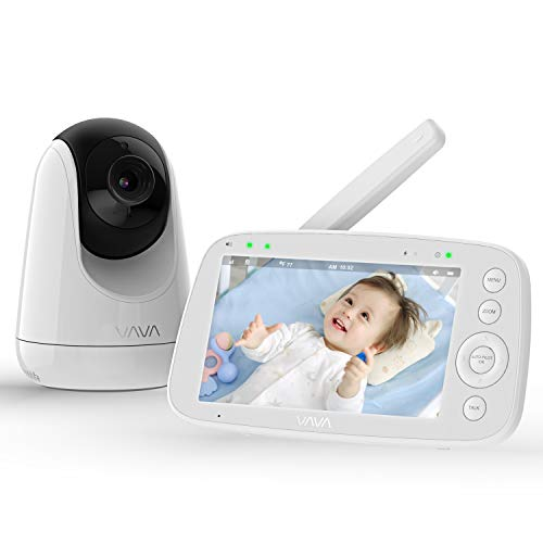 Baby-Monitor-VAVA-720P-5-HD-Display-Video-Baby-Monitor-with-Camera-and-Audio-IPS-Screen-900ft-Range-4500-mAh-Battery-Two-Way-Audio-One-Click-Zoom-Night-Vision-and-Thermal-Monitor
