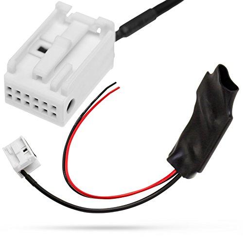 Bluetooth AUX IN Adapter 12pol Quadlock Stecker für Mercedes Benz Comand APS NTG