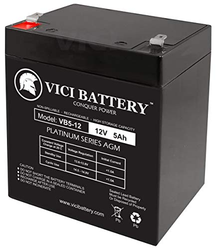 VICI Battery 12V 5AH SLA Battery Replacement for ION Audio Tailgater Active