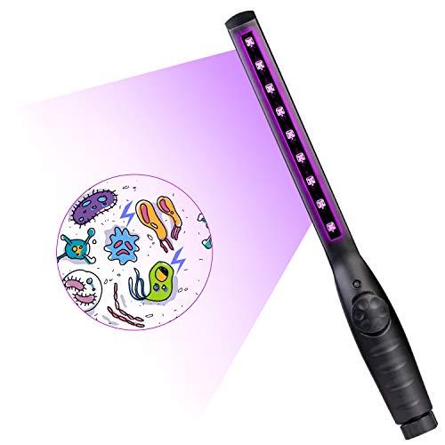 ACADGQ Lampada per sterilizzazione UV Tasso Antibatterico 99% Portatile disinfettante LED Disinfettante Disinfettante Luce Lampada Germicida Ultravioletta per Hotel Bagno Cucina Ufficio Viaggio