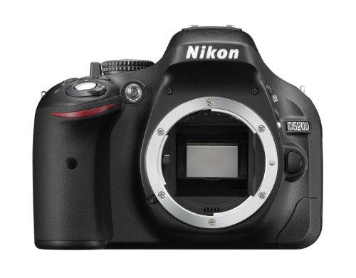Nikon D5200 Body Fotocamera SLR Digitale, 24.1 Megapixel, Display TFT da 7.6 cm (3 Pollici), Full HD, HDMI, Colore Nero [Versione EU]
