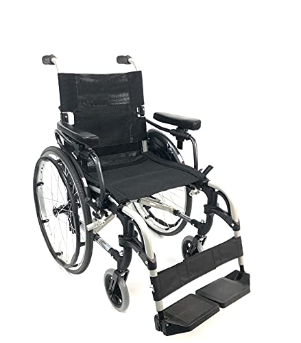 Karman S-Ergo 305 Wheelchair w/Adjustable Seat Height-18' Seat-Silver