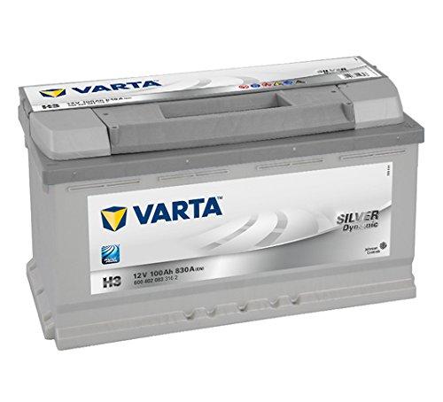 Varta 6004020833162 Autobatterie Silver Dynamic H3 12 V...