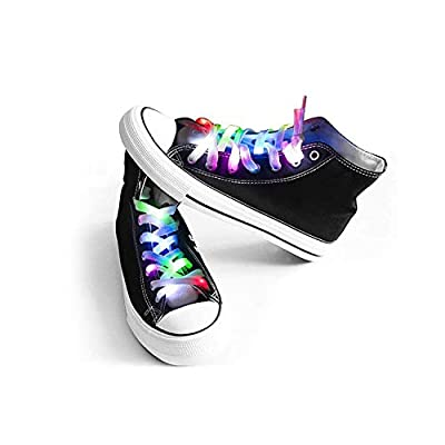 Attractive LED shoelaces: 5 different colors, 4 modes to choose--stay on, blink fast, blink slow and off. Last about 40 hours when the light stays on, 60-80 hours flashing. Cool eye-catching accessories: Unique design for hip-hop dancing, night spo...