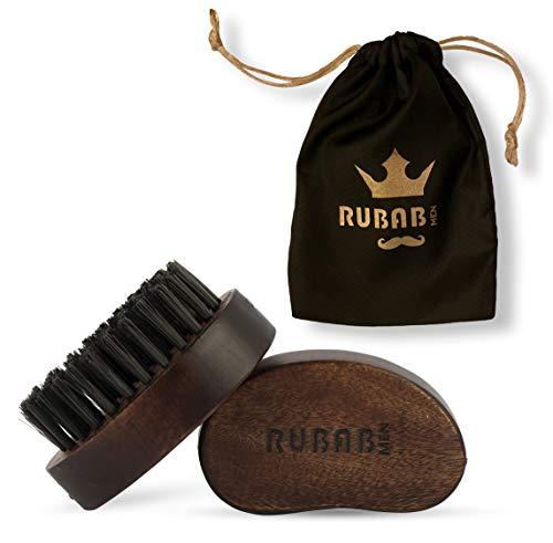 RUBAB MEN Travel Friendly Nylon Bristle Beard Brush for Men (Pocket Size)
