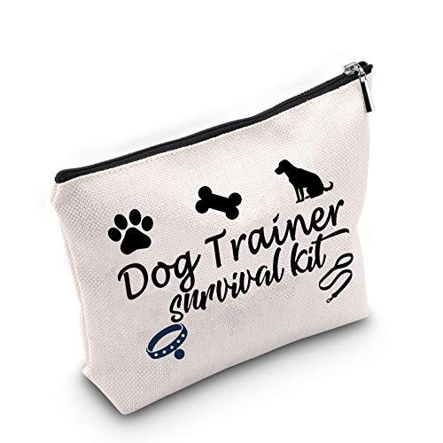 Regalo de entrenamiento de perro entrenador de perro regalo entrenador de perro bolsa de cosméticos regalo de agradecimiento para entrenador de perros amante de perros bolsa de maquillaje regalo