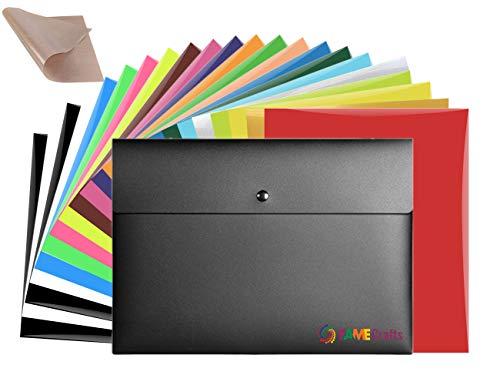 Fame Crafts Heat Transfer Vinyl Bundle 12'x10'- 20 Pack of Assorted...