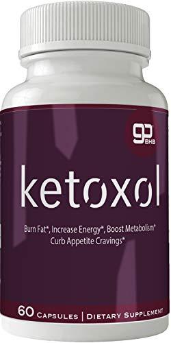 Ketoxol Natural Ketogenic Weight Loss Pills, BHB Burn Fat Supplement, 800 mg Formula with New True Slim GO BHB Salts Formula, Advanced Appetite Suppressant Capsules … 1