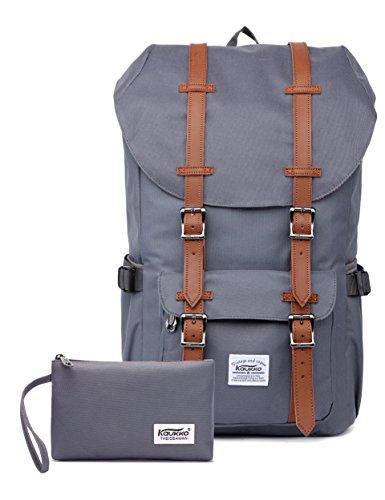 """KAUKKO Rucksack Damen Herren Studenten 17 Zoll Backpack für 15"""" Notebook Lässiger Daypac..."""