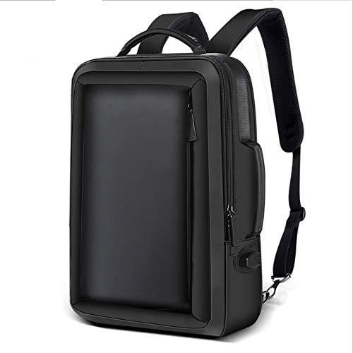 Notizbuchtaschen Anti Theft Rucksack 15,6 Zoll Laptop Water-Resistant mit USB Charging Rucksack für Männer, Schwarz.