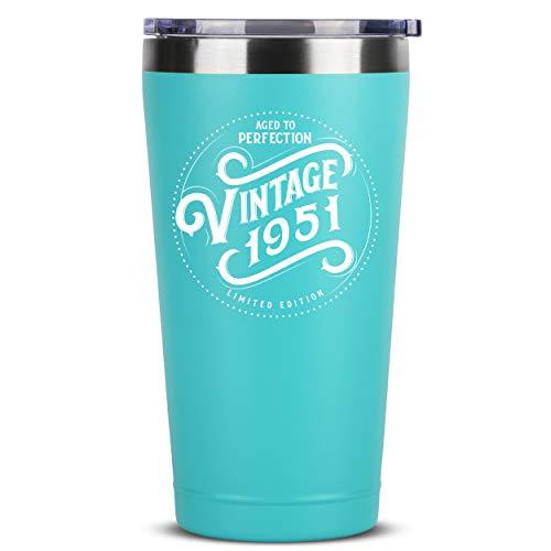 1951 70th Birthday Gifts for Women Men Mom Dad - 16 oz Mint...