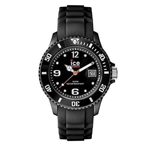 Ice-Watch - Ice Forever Black - Schwarz Herrenuhr mit Silikonarmband - 000133 (Medium)